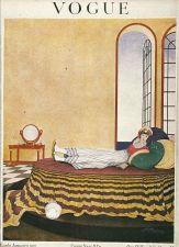 Buy Vogue 1919 Cover Print Lady Boudoir Bed Cat Windows Art Deco 1984 original print