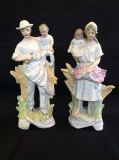 Buy antique german porcelain. Pair with children on arm. Marked