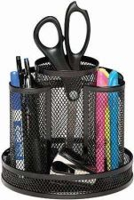 Buy Collection Office Mesh Spinning Desk Organizer Classroom Clutter Pen Pencils New