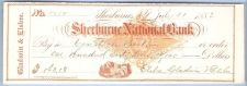 Buy New York Shelburne Cancelled Check Shelburne National Bank Check #5458 Dat~1