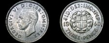 Buy 1940 Great Britain 3 Pence World Silver Coin - UK