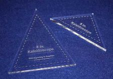 "Buy 2 Piece Set Kaleidoscope 8"" Templates Acrylic ~1/4"" thick. Quilting/Sew"
