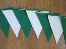 Buy Christmas Decor Green White Fabric Bunting Double Sided Party Banner 8 ft 240 cm