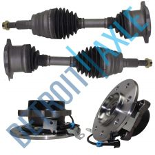 Buy 2 New Wheel Hub Assemblies + 2 Front Driver/Passenger CV Axle Shafts - 4WD 8 Lug