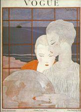 Buy Vogue 1918 Cover Print Globe Ladies by Lepape Vive Art Deco 1984 original print