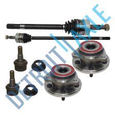 Buy 2 New FRONT CV Axleshaft + 2 Wheel Hub Bearing Assembly + 2 Lower Ball Joints