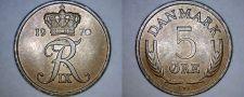 Buy 1970 Danish 5 Ore World Coin - Denmark