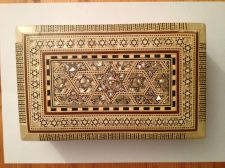 Buy Old Persian Style Inlaid Jewelry Box… with Red Velvet Lining...