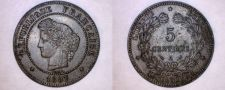 Buy 1897-A French 5 Centimes World Coin - France