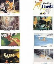 Buy Disney - Bambi- 8 - Lobby Cards - very hard to find from - 1982