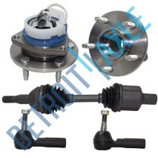 Buy 1 Front CV Axle Shaft + 2 Wheel Hub and Bearing Assemby + 2 Outer Tie Rods