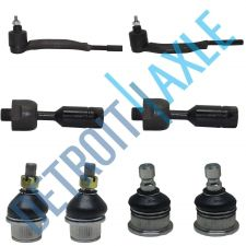 Buy 8pc Set: Front Driver and Passenger Inner Outer Tie Rod + Upper Lower Ball Joint