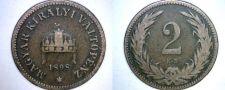 Buy 1898 Hungarian 2 Filler World Coin - Hungary
