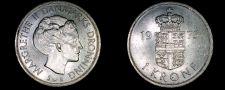 Buy 1975 Danish 1 Krone World Coin - Denmark