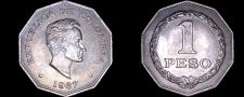 Buy 1967 Colombian 1 Peso World Coin - Colombia