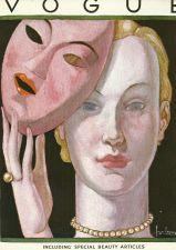 Buy Vogue 1931 Cover Print by Lepape Face Mask Fashion Art Deco 1984 original print