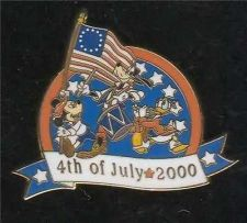 Buy Disney Goofy Donald Mickey WDW LE Fife and Drum July 4th Patriotic pin