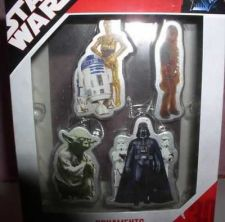 Buy Star Wars Darth Vader, Yoda, Chewbacca, C3PO and R2D2 4 ornaments