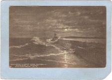 Buy New York Dunkirk Lighthouse Postcard Beacon Light & Harbor During A Storm ~761
