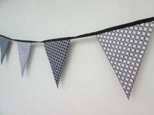 Buy Black & White Gotcha Celtic Fabric Bunting Double Sided Banner by 100 cm 39 inch