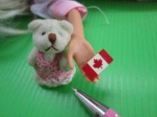 Buy Teddy Polar Bear Soft Dollhouse Miniatures 1/12 Scale + CANADA Flag Set of 2 pcs