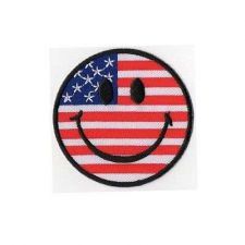 Buy SMILE AMERICA LOGO SIGN, IRON / SEW ON PATCH APPLIQUE EMBROIDERED
