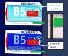 Buy Set of 2 TRANSIT METROCARD RTA .OHIO.CLEVELAND.