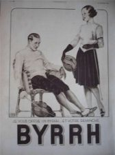 Buy Fencing Sport print by Georges Leonnec 1932 French Byrrh Advert
