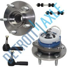 Buy 6 pc Kit 2 Front Wheel Hub and Bearing FWD w/ ABS + 2 Tie Rod + 2 Sway Bar Link