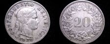 Buy 1920 Swiss 20 Rappen World Coin - Switzerland