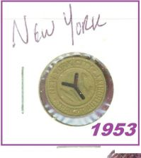 "Buy SUBWAY METRO NYC Transit ""Small Y"" Token.1953.***"