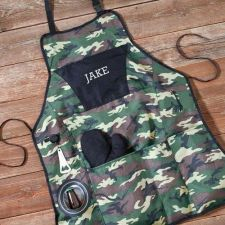 Buy Deluxe Camouflage Grilling Apron Set
