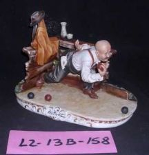 Buy CAPODIMONTE Playing Bocce by Enzo Arzenton Laurenz Sculpture COA Italy 7x11inch