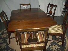 Buy antique dropleaf dining table and antique chairs