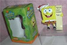 Buy Spongebob Squarepants Nickelodeon dated 2002 Han crafted Holiday Ornament