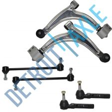 Buy 6pc Kit 2 Front Lower Control Arm & Ball Joint, 2 Sway Bar Link, 2 Outer Tie Rod