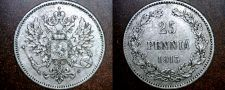 Buy 1913-S Finland 25 Pennia World Silver Coin Russian Admin