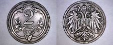 Buy 1904 Austrian 2 Heller World Coin - Austria
