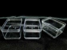 Buy 6 x 100% Transparent Plastic Boxes Display Storage container Jewelry Beads Food