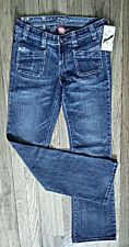 Buy MGY Boot Cut Blue Jeans 95% Cotton 5% Elastane Stretch, Tall Women Size 7- NWT