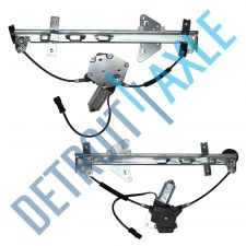 Buy Pair of 2 NEW Rear Driver and Passenger Window Regulator Assembly w/ Motor Set