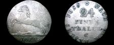 Buy 1814-C German States Hannover 1/24th Thaler World Silver Coin