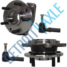 Buy NEW 4 pc Kit - 2 Front Wheel Hub and Bearing Assembly + 2 Outer Tie Rod End Set