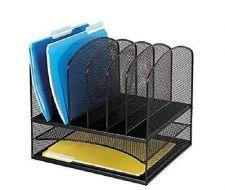 Buy Mesh Desk Storage Organizer Office School Onyx 2 Horizontal 6 Uprigh Sections