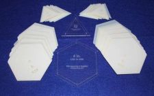 "Buy Mylar 4"" Hexagon Side to Side -2"" E- Triangle 102 Piece Set -Template-Acrylic"