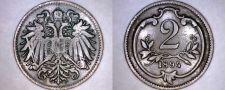 Buy 1894 Austrian 2 Heller World Coin - Austria