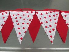 Buy Red Heart dot Fabric Bunting Double Sided Love Banner 8 Flags 9 ft 3 yd 270 cm