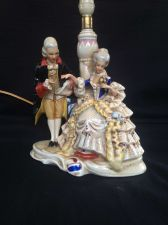 Buy antique porcelain GRAFENTHAL lampfoot. Marked