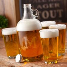 Buy Engraved Growler Set (four blank pint glasses)- Free Personalization