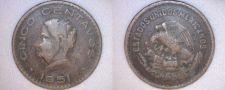 Buy 1951 Mexican 5 Centavo World Coin - Mexico